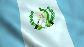 Realistic Guatemala flag. Waving in the wind vector illustration