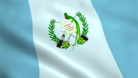 Realistic Guatemala flag stock video footage