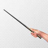Realistic Hand With Magic Wand Stock Image