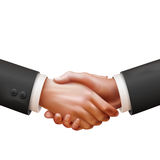 Realistic hand shake illustration Royalty Free Stock Image