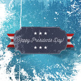 Realistic Happy Presidents Day greeting Card Royalty Free Stock Images
