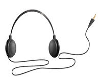 Realistic headphones Royalty Free Stock Images