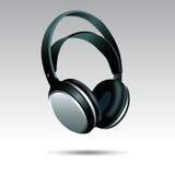 Realistic Headphones illustration. Realistic Black Headphones illustration  on white background Stock Images