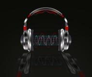 Realistic headphones Stock Photo