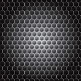 Realistic hexagonal grid background. Stock Photos