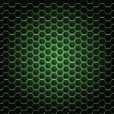 Realistic hexagonal grid background. Royalty Free Stock Photography