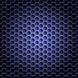 Realistic hexagonal grid background. Stock Photo
