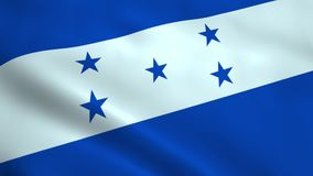 Realistic Honduras flag stock video footage