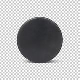 Realistic ice hockey puck. Vector illustration for your projects royalty free illustration