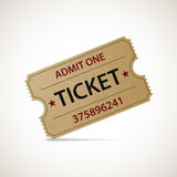 Realistic icon cinema ticket. Stock  Royalty Free Stock Photography