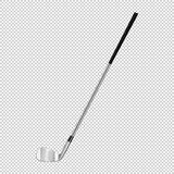 Realistic icon of classic golf club isolated on transparent background. Design template closeup in vector. Stock Images