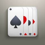 Realistic icon deck of playing cards for casino Royalty Free Stock Photos