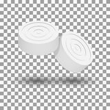 Realistic icon game checkers, vector illustration. Stock Image