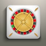 Realistic icon roulette casino Royalty Free Stock Photography