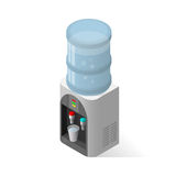 Realistic icon for water cooler with blue full Stock Images