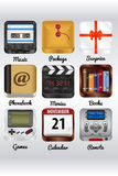 Realistic icons Stock Photography