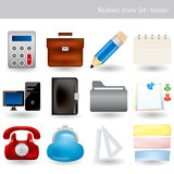 Realistic icons set Royalty Free Stock Images