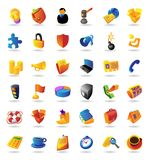 Realistic Icons Set For Business And Finance Royalty Free Stock Photos