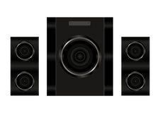 Realistic illustration audio speakers Royalty Free Stock Photography