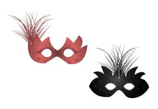 Realistic illustration of carnival masks Royalty Free Stock Photo