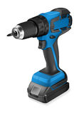 Realistic illustration of cordless drill. On white background stock illustration