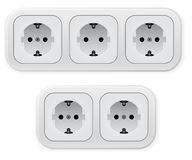 Realistic illustration of different forms outlets Stock Image