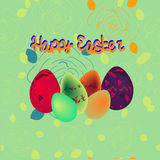 Realistic illustration of easter eggs, happy easter. Realistic illustration of three easter eggs Stock Image