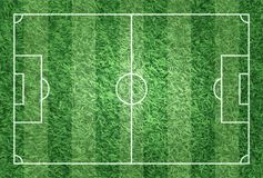 Realistic illustration football or soccer field with turf texture background . Image for international world championship tourname. Nt 2018 concept Stock Images