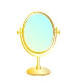Realistic illustration of gold mirror Stock Photos