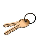 Realistic illustration the golden keys Stock Photos