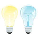 Realistic  illustration of a light bulb Royalty Free Stock Photo