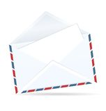 Realistic illustration of open envelope of post Royalty Free Stock Photo