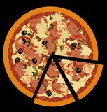 Realistic illustration pizza Stock Image