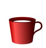 Realistic illustration of red cup Royalty Free Stock Image