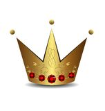Realistic illustration of royal gold crown Royalty Free Stock Photography