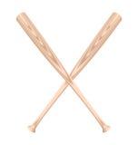 Realistic illustration of two baseball bat Stock Image
