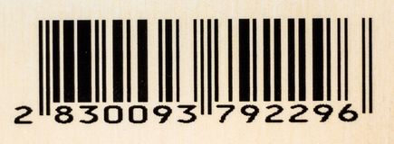 Bar Code in A Beige Background royalty free stock photo