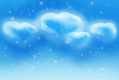 The realistic image four hearts has generated clouds in the sky Royalty Free Stock Photos