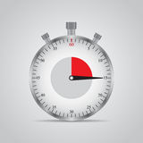 Realistic image of a sports stopwatch. Symbol competition. Icon  on gray background Royalty Free Stock Photography
