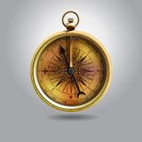 Realistic image of  vintage isolated compass. illustration Royalty Free Stock Images