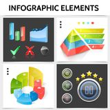 Realistic Infographic Square Concept royalty free illustration
