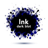 Realistic ink splash banner Royalty Free Stock Photo