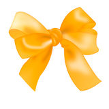 Realistic isolated bow gold color.  color bowknot Stock Image