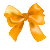 Realistic isolated bow gold color.  color bowknot Royalty Free Stock Photography