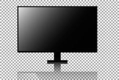 Realistic 4k tv vector Royalty Free Stock Photography