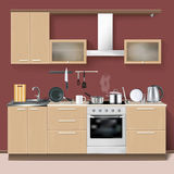 Realistic Kitchen Interior Stock Image