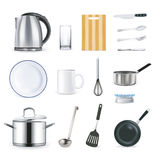 Realistic Kitchen Utensils Stock Images