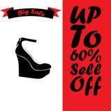 Realistic ladies shoe. Stock Photo