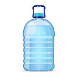 Realistic large bottle with clean blue water  on the white background. Vector mockup. Front view. Realistic large bottle with clean blue water  on the white Royalty Free Stock Photography