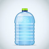 Realistic large bottle with clean blue water  on the white background. Vector mockup. Front view. Realistic large bottle with clean blue water  on the white Stock Images